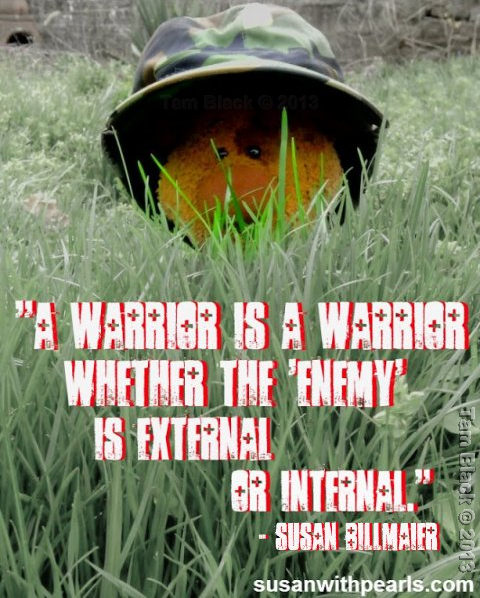 """""""Peaceful Warrior"""" Copyright Tam Black 2013 Edited for susanwithpearls.com April 2013 by permission"""