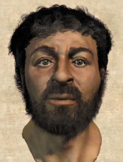 """The Real Face of Jesus"" Photo credit - Popular Mechanics  Dec. 2002"