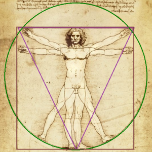 "Leonardo da Vinci ""Vitruvian Man""/public domain edited for susanwithpearls"
